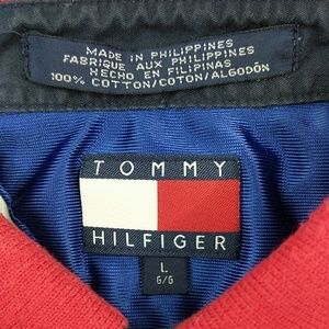 Tommy Hilfiger Shirts - Vintage Tommy Hilfiger red white & Blue Large Polo
